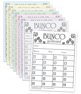 Farkle score cards for Free bunco scorecard template